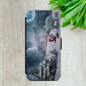 CHRISTMAS XMAS MAGIC BEAR FLIP WALLET PHONE CASE COVER FOR IPHONE SAMSUNG HUAWEI
