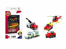 Dickie Toys Feuerwehrmann Sam 3 Pack Set mit 3 Verschiedenen Metallfahrzeugen