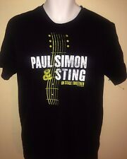 PAUL SIMON STING ON STAGE TOGETHER TOUR  2014 LARGE  T-SHIRT ROCK OUT OF PRINT