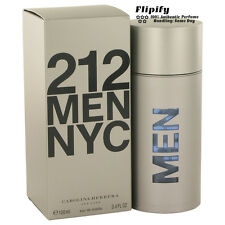 212 Cologne By Carolina Herrera for Men 3.4 oz EDT Perfume Spray New
