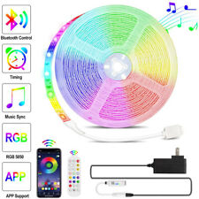 16 ft 5M RGB 5050 Bluetooth Led Strip Lights SMD 24 Key Remote 12V DC Power Kit