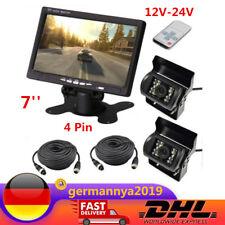 12V-24V Bildschirm 18 LED Rückfahrkamera Kit 7'' TFT Funk LCD Monitor 4 Pin
