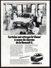 1978 RENAULT 5 LeCar Vintage Original Print AD - White car photo Canada French