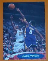 💎 1999-00 Topps Stadium Club #76 Allen Iverson 76ers vs Kobe Bryant Lakers HOF