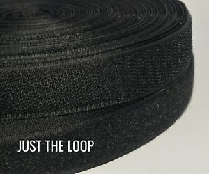 """VELCRO® BRAND SEW-ON TAPE For Fabrics Soft and Flexible. LOOP BLACK 1"""" X 5 ft."""