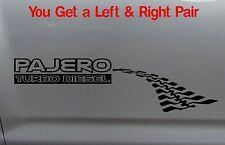 PAJERO TURBO DIESEL 4x4 wagon Tyre Tracks Mitsubishi Sticker PAIR 300mm