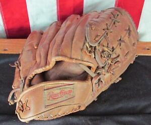 Vintage 1970s Rawlings Leather Baseball Glove Fielders Mitt Tony Conigliaro GJ20