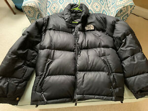 North Face 700 Goose Down Brown Puffer Jacket Mens Winter Coat Size L Nuptse