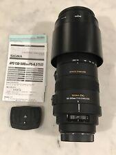 EEUC Sigma DG 150-500mm F/5-6.3 APO HSM Lens w/ Manual,Mount,Polaroid UV Filter
