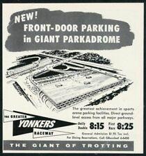 1958 Yonkers Raceway horse racetrack Giant Parkadrome art vintage print ad