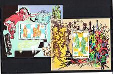 Djibouti  timbre  blocs spéciaux   échecs   num: BF 548/49  oblitéré