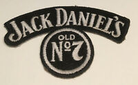 Jack Daniel's Old No 7 Embroidered Sew On Biker Patch Black Whiskey Badge