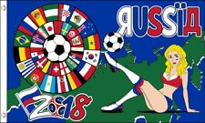 World Cup 2018 Flag with Girl 3x5 ft Country Flags Soccer Football Russia