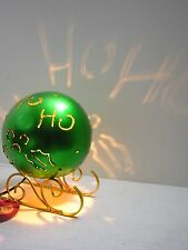"Christmas Decor NIGHTLIGHT Luminary ""HO HO HO"" light up Globe FREE SHIPPING"