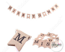 Miss to Mrs Hessian Banner Burlap Rustic Bunting Party Hens Wedding Decorations
