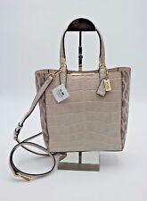 Coach Madison Ocelot Fabric Croc Leather Bonded Mini Tote Bag New - 28301 ($398)