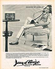 PUBLICITE ADVERTISING  1964   JEAN D'AVEZE  cosmétiques JOUVACNET