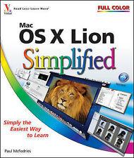 Mac OS X Lion Simplified, McFedries, Paul, Very Good Book
