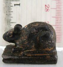 Super Rare! 17th.c Bronze Rat Opium Weight 35g. High Quality Bronze & Casting