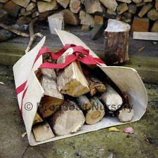 LOG GOBBLER Heavy Duty Jute Canvas Log Carrier, Basket