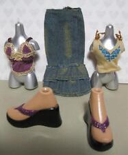 """Bratz 10"""" Doll FIANNA FUNK OUT CLOTHES SET-SANDAL SHOES SKIRT TOP LINGERIE SET"""