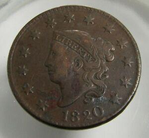 1820 U.S. Large Cent VF