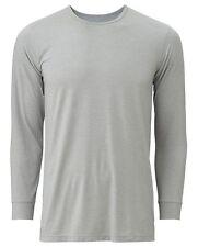UNIQLO Men's HEATTECH Long-Sleeve Crewneck T-Shirt L GRAY Stretch Undergear NIP!