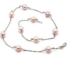 4d956ece4e44 Collares y colgantes de joyería con perlas cadenas de oro blanco ...