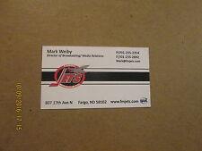 NAHL Fargo Moorhead Jets Junior A Hockey Club Busines Card