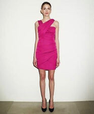 BNWT REISS Sassy Hot Pink Draped Bandage Bodycon Pencil Dress UK Size 6 £169