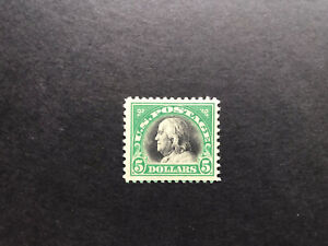 Usa 1918 Franklin Five Dollar Black And Green Fine Mint .
