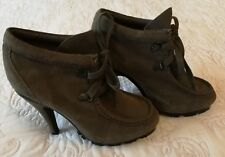 Sportsgirl Leather Platform Lace Up Boots Size 6