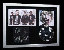 PAPA ROACH+SIGNED+FRAMED+CROOKED TEETH+INFEST=100% AUTHENTIC+EXPRESS GLOBAL SHIP