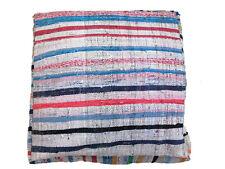 "24""Sq. x 9"" h Vintage Handmade Moroccan Berber Rug Pouf Ottoman Beni Ourain"