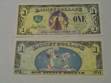 2013 $1 Disney Dollar featuring Cruella with Error - A or D Series  NEW  MINT