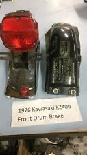1976 Kawasaki KZ400 Rear fender and tail light assembly