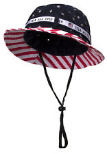Cotton Twill USA American Flag Bucket Hat USA All The Way Boonie