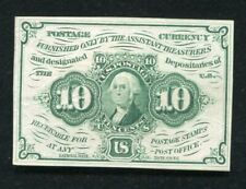 FR. 1242 10 CENTS FIRST ISSUE FRACTIONAL CURRENCY NOTE GEM UNCIRCULATED