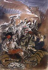Yves Brayer (1907-1990) aquarelle et gouache v58