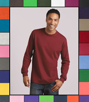 Gildan Adult Long Sleeve Heavy Cotton T-Shirt Blank Tee Top Shirts S-3XL G540