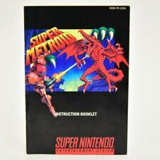 Super Metroid Super Nintendo SNES MANUAL ONLY NO GAME