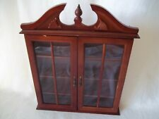 """VINTAGE CURIO DISPLAY CASE FOR HANGING  21"""" TOTAL HEIGHT."""