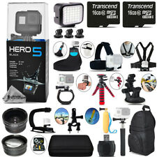 GoPro Hero 5 Black Camera + Wide angle & Telephoto Lens + 32GB - Loaded Kit