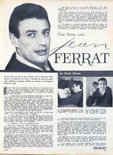 Article papier 2 pages JEAN FERRAT décembre 1962 FAJ 918 P1034515