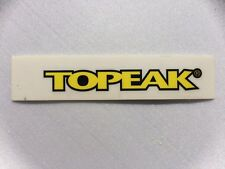 Topeak Bicycle Sticker Decal Original Not Remade!