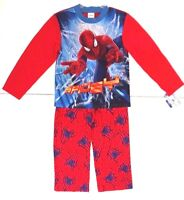 Marvel The Amazing Spider-Man Boy's Kids Red Pajama 2 Piece Set Size 8 NWT