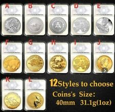 Genuine 1 troy oz .999 fine silver / 24k Gold Coins With It's Case.