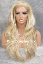 HEAT SAFE Lace Front WIG Strawberry Pale Blonde Mix Hair APA8 613/27