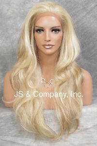 HEAT SAFE Full Lace Front WIG Strawberry Pale Blonde Mix Hair APA8 613/27