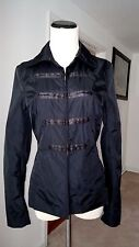 H&M Military Style Black Lightweigth pockets lined Jacker Size 4